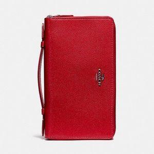 📂💼Coach Double Zip Organizer Wallet